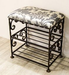 Metal Sofa, Metal Furniture, Wrought Iron Decor, Shoe Shelves, Space Saving Furniture, Decorative Storage, Design Case, Diy Kitchen, Vanity Bench