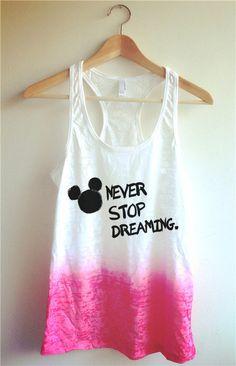 Never Stop Dreaming Tie Dye Tank Top