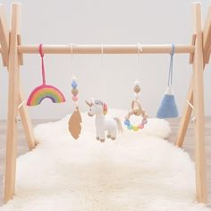 Rainbow Unicorn Baby play gym with 5 toys Rainbow Nursery Decor, Baby Nursery Decor, Girl Nursery, Girl Room, Nursery Ideas, Baby Room Design, Nursery Design, Rainbow Baby, Rainbow Unicorn
