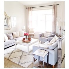 white, bright, and light living room // airy