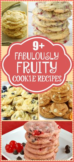 Amazing fruity cookie recipes featuring cookies with fruit ~ simple cookie recipes that include fruit! Butter With A Side of Bread