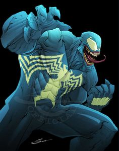 Venom by Sandoval-Art on DeviantArt Dc Comics, All About Me Art, Spiderman Movie, Samurai Jack, Human Art, Venom, Amazing Art, Cool Art, My Arts
