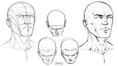 Head construction reference by robertmarzullo drawing with l Anna Cattish, Character Design Cartoon, Character Design References, Illustration Vector, Illustrations, Drawing Tips, Drawing Reference, Pose Reference, Warhammer 40k