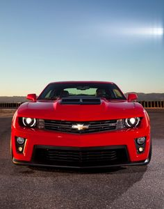 Chevy Camaro ZL1, and it is red!