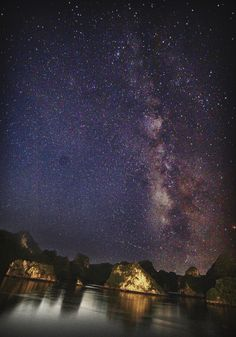 Astrophotographer Jameson Schultz sent in a photo of the Milky Way over Halong Bay, Vietnam, taken July 30, 2014.