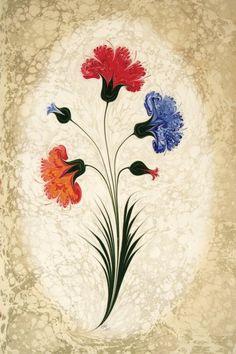 Ebru Art, Water Marbling, Beautiful Rose Flowers, Fabric Paint Designs, Turkish Art, Marble Art, Earth Pigments, Arabic Calligraphy Art, Art N Craft