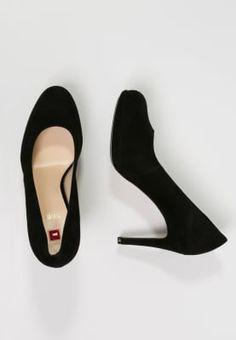 Bestill Högl Platåsko - black for kr 1 med gratis frakt på Zalando. Louboutin Pumps, Christian Louboutin, Flats, Heels, How To Wear, Fashion, Black, Loafers & Slip Ons, Heel