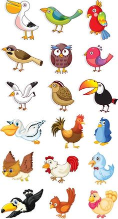Funny animals vector clip art ideas for 2019 Cartoon Cartoon, Cartoon Birds, Drawing For Kids, Art For Kids, Kids Vector, Free Vector Graphics, Vector Vector, Cute Birds, Animal Drawings
