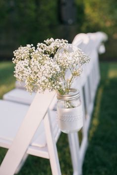 Baby's breath aisle flowers: http://www.stylemepretty.com/little-black-book-blog/2015/05/27/rustic-chic-hudson-river-valley-wedding/ | Photography: Kelly Kollar - http://kellykollar.com/