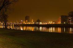 Venlo, Limburg, The Netherlands. Night Skyline