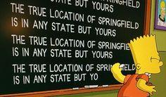The true location of Springfield
