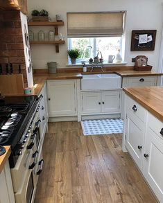 "{AD} My most frequently asked question has be ""What do you treat your wooden worktops with?"" & ""Are wooden worktops hard to maintain (especially around the sink area)? Home, Home Kitchens, Kitchen Design Small, Kitchen Remodel Small, Kitchen Design, Kitchen Inspirations, Country Kitchen, Home Decor Kitchen, Kitchen Interior"