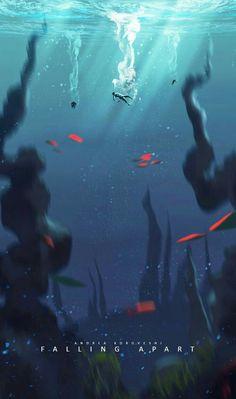 The Art Of Animation, Andi Koroveshi - . Fantasy Landscape, Landscape Art, Landscape Lighting, Arte 8 Bits, Drawn Art, Wow Art, Environmental Art, Anime Scenery, Art Blog