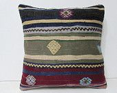 kilim pillow 18x18 rustic pillow case aztec pillow cover kilim pillowcase indie pillow chair cushion cover bohemian pillow cover boho 28054