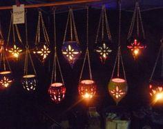 Impresionante Linterna colgante de cerámica luces vibrantes