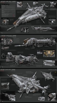 Butcher Class Heavy Gunship by KaranaK on DeviantArt: