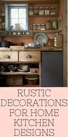 Rustic Decorations For Home Interiors Rustic Decorations For Home Ideas Modern Rustic Interiors, Country Chic, Rustic Decor, Home Kitchens, Farmhouse Style, Kitchen Design, Kitchen Cabinets, Room Decor, Decorations