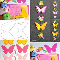 Móvil de mariposas de papel tutorial http://www.usefuldiy.com/diy-paper-butterfly-mobile/