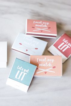 Adorable and colorful DIY matches wedding favor tutorial Unique Wedding Favors, Unique Weddings, Diy Wedding, Wedding Decor, Wedding Ideas, Sticker Printer Paper, Party Gifts, Party Favors, Wedding Colors