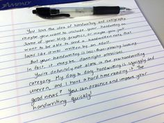 Learn to improve your handwriting