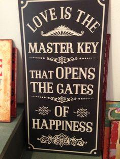 Liebe ist der Schlüssel :-)
