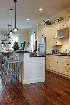 Beautiful reclaimed wood floors Eclectic Kitchen by Nan Mac Mark