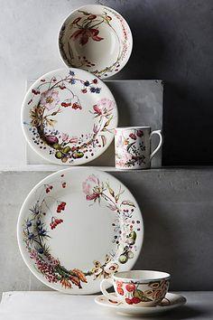 Gien Bouquet Dinner Plate - anthropologie.com