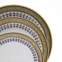"""Mottahedeh """"Chinois Blue"""" Dinner Plate 
