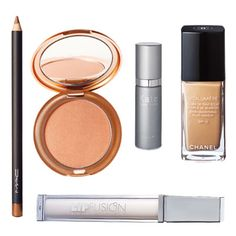 Kate Walsh's Favorites  MAC Eye Kohl in Powersurge, $14; maccosmetics.com.   Stila Sun Powder Bronzer in Shade 1, $24; stilacosmetics.com.  Kate Somerville Quench Hydrating Serum, $65; katesomerville.com.   Chanel Vitalumiere Fluid Makeup SPF 15, $50; chanel.com.   Lip Fusion, $36; sephora.com.