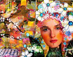 couleurs et mixed media: Art-Journal  - semaine 11 et la fée Printemps