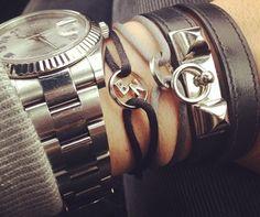 White gold 2 initial bracelet