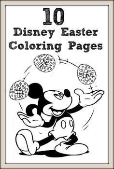 Disney Craft Printables - 10 Disney Easter coloring pages