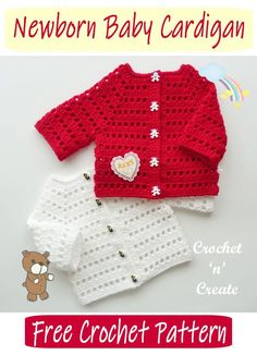 Crochet Baby Cardigan, Crochet Baby Clothes, Crochet Jacket, Newborn Crochet, Cardigan Pattern, Sweater Cardigan, Crochet Shrugs, Cute Crochet, Crochet For Kids