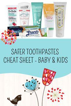 Baby & Kids Toothpaste Cheat Sheet