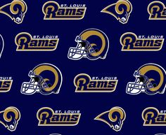 Louis Rams NFL Logo Cotton Fabric by Fabric Traditions! [Sold by Yard Increments] Online Craft Store, Craft Stores, Cleveland Indians Shirt, Official Nfl Football, St Louis Rams, Custom Made Shirts, Nfl Logo, Joann Fabrics, Fabric Crafts