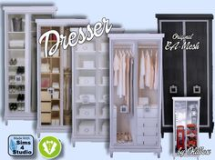 Sims 4 CC's - The Best — Dresser Vintage by Oldbox.