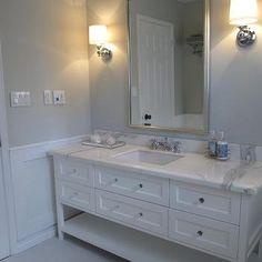 Blue Gray Paint Contemporary Bathroom Benjamin Moore Wickham Redroze S Renos Grey