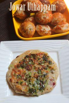 YUMMY TUMMY: Cholam Uthapam Recipe - Jowar (Sorghum) Uttappa Recipe