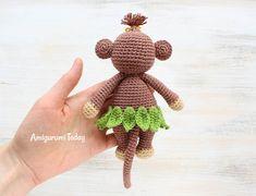 Patrón Cuddle Me Monkey Amigurumi Gratis