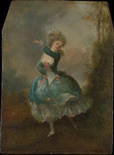 Dancer  Jean Frédéric Schall (French, Strasbourg 1752–1825 Paris)  Medium: Oil on wood