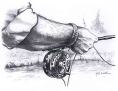 Fly Fishing Artwork Launch by MikeWorthenFineArt on Etsy, $10.00