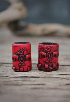 Dreadlock rojo granos hippie pelo temen accesorio de perlas para granos de rastas para granos pelo para dreadlock granos único accesorio para rastas