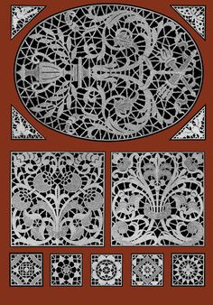 Le Point de Venise  c.1916 - Beautiful Venetian Point Lace Designs of France