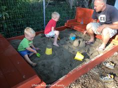 Build your own sandbox with benches and a cover all in one! Step by step directions on how to create an amazing play area to your yard!