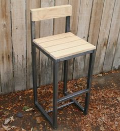 Handmade scrap metal bar stool by jreal on Etsy, $225.00