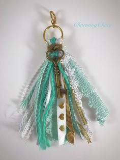 Your place to buy and sell all things handmade Tassel Keychain, Diy Keychain, Diy Tassel, Tassels, Happy Planner Accessories, Ribbon Crafts, Wooden Beads, Craft Fairs, Jewelry Crafts