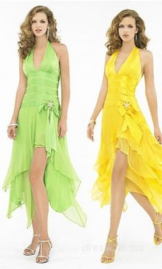 A spring complexion, and hourglass figure and a long trimmed dress
