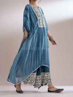 Kaftan Designs, Afghani Clothes, Indian Designer Outfits, Shibori, Evergreen, Festive, Ethnic, Kimono Top, Saree