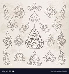 Sketch Thai arts pattern and design elements Vector ImageYou can find Thai art and more on our website.Sketch Thai arts pattern and design elements Vector Image Thai Pattern, Pattern Art, Pattern Paper, Pattern Design, Pattern Sketch, Arte Sharpie, Cambodian Art, Thai Design, Design Design