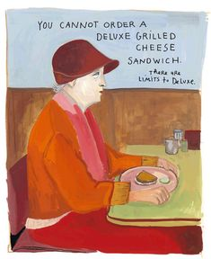 "Necessary Fiction, by Yelena Bryksenkova. ""You cannot order a deluxe grilled cheese sandwich. There are limits to deluxe."""